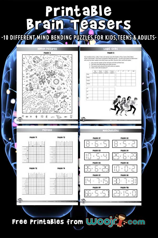 Brain Teasers Printable Worksheets Printable Brain Teasers for Kids