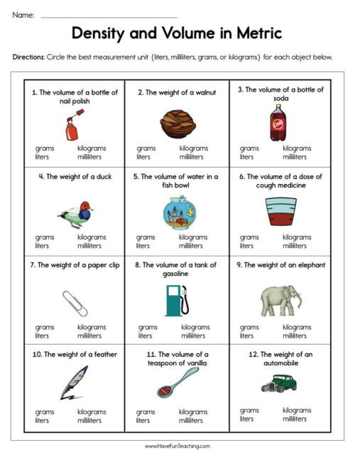 Capacity Worksheets 4th Grade Capacity Worksheets • Have Fun Teaching