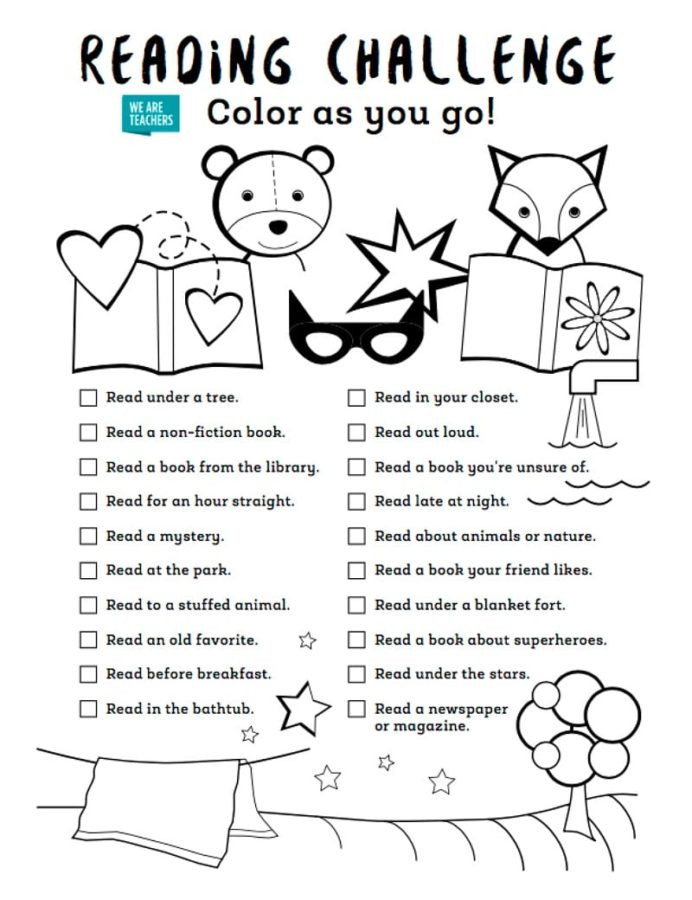 Challenge Math Worksheets Color as You Go Summer Reading Challenge First Week