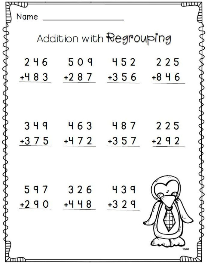 Christmas Math Worksheets 3rd Grade 5169 Praxis Math Worksheets Addition with Regrouping 3