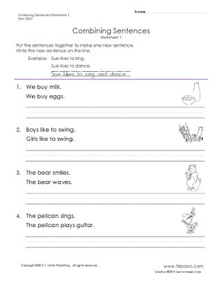 Combining Sentences Worksheet 5th Grade Free Bining Sentences with Conjunctions Worksheets