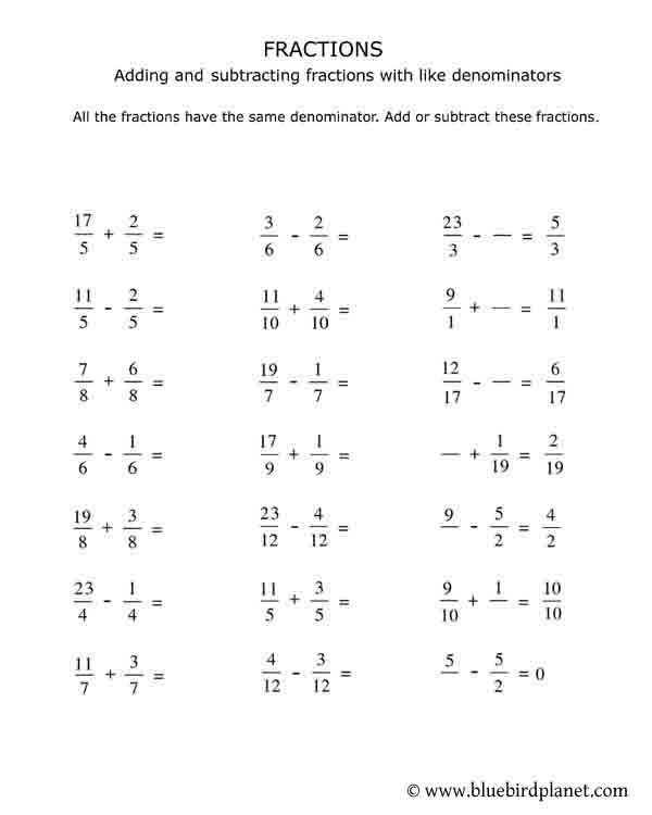 Comparing Fractions Worksheet 4th Grade 4th Grade Fractions Worksheets Printable