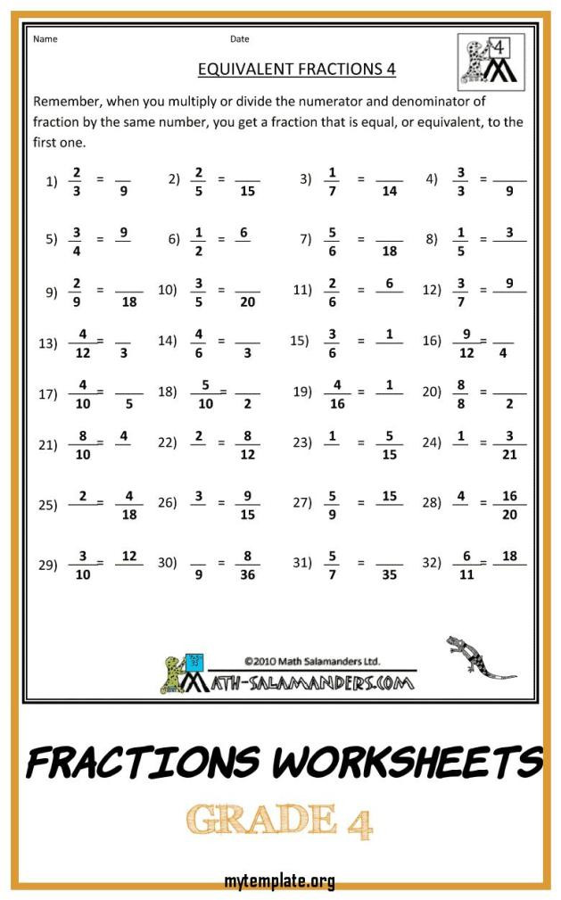 Comparing Fractions Worksheet 4th Grade 6 Fractions Worksheets Grade 4 Free Templates