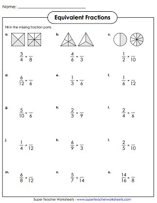 Comparing Fractions Worksheet 4th Grade Equivalent Fractions & Simplifying Fractions Worksheets