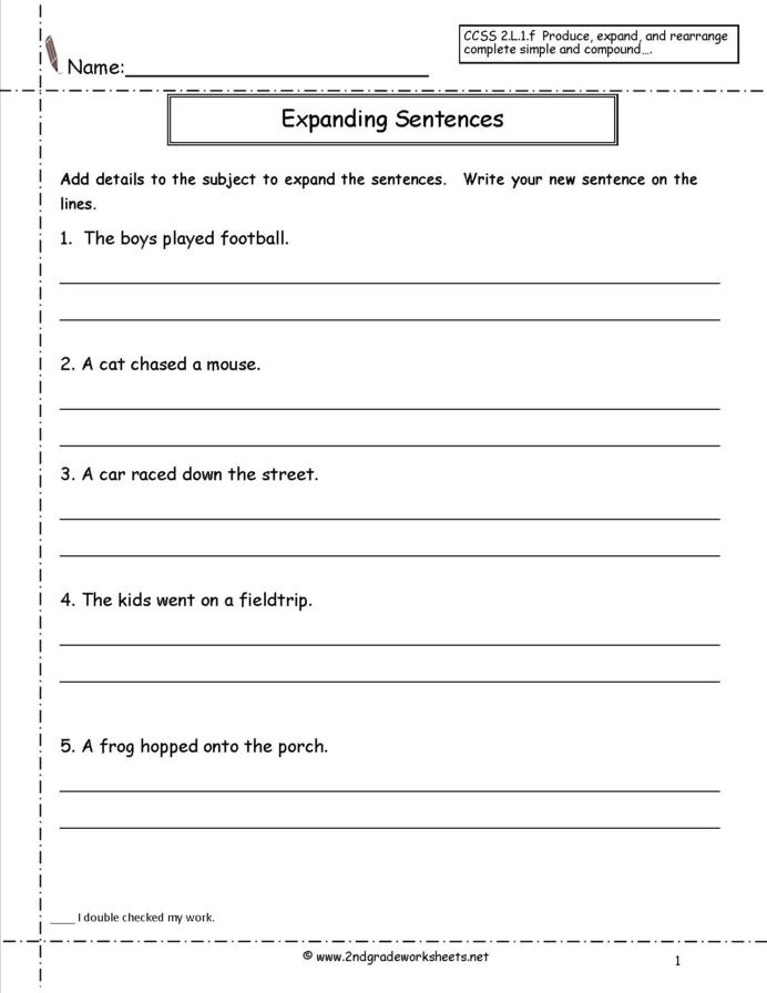 Complete Sentence Worksheets 1st Grade Copy Sentence Worksheet First Grade Printable Worksheets and
