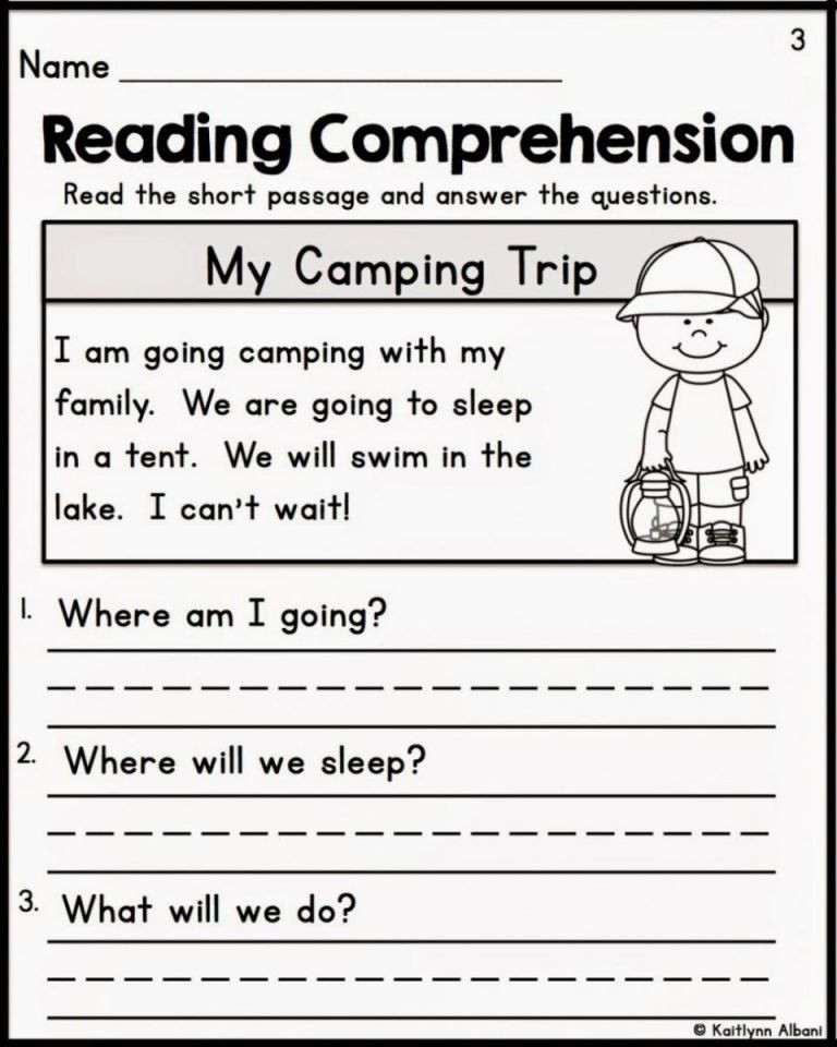 Comprehension Worksheets for Kindergarten Free Printable Reading Prehension Worksheets for Preschoolers