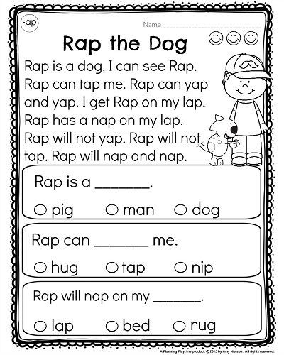 Comprehension Worksheets for Kindergarten Kindergarten Reading Prehension Passages