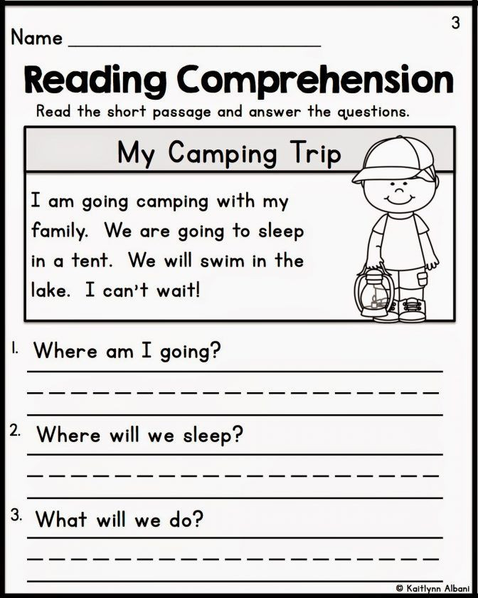 Comprehension Worksheets for Kindergarten Kindergarten Reading Prehension Worksheets Multiple