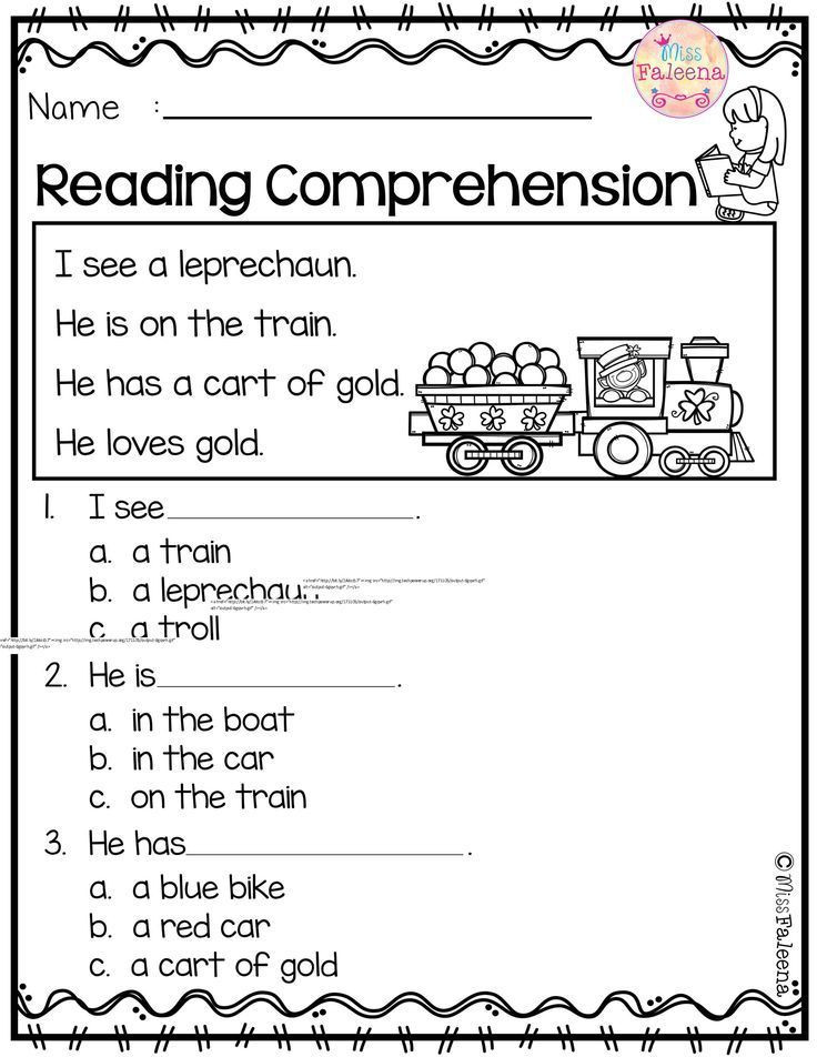 Comprehension Worksheets for Kindergarten March Reading Prehension is Suitable for Kindergarten St