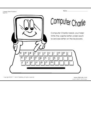 Computer Worksheets for Grade 1 Puter Charlie Worksheets 1 and 2