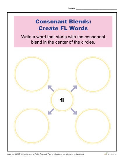 Consonant Blends Worksheets 3rd Grade Consonant Blends Worksheets