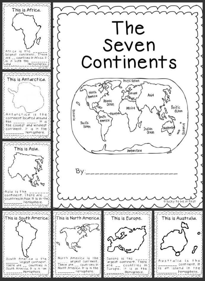 Continents and Oceans Worksheet Printable Geography Worksheet 1st Grade Worksheets Continent Book High