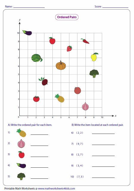 Coordinate Grid Worksheets 6th Grade Pin On Worksheet for Kids