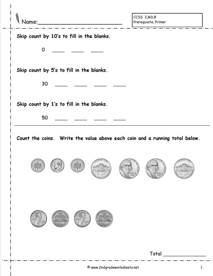 Counting Coins Worksheets 2nd Grade Counting Coins and Money Worksheets Printouts Grade