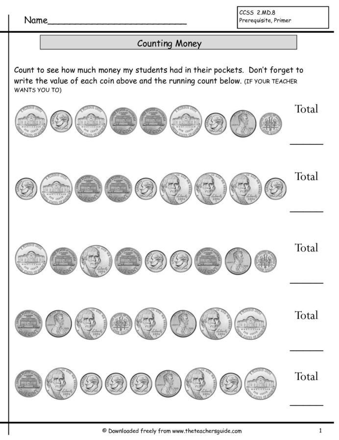 Counting Coins Worksheets 2nd Grade Mixed Coins Worksheet Counting Worksheets without Quarters