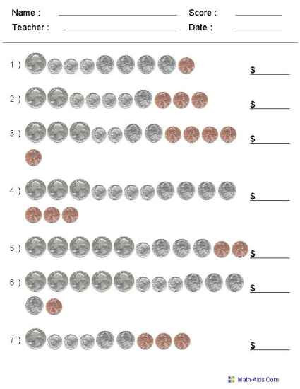 Counting Coins Worksheets 2nd Grade Money Worksheets