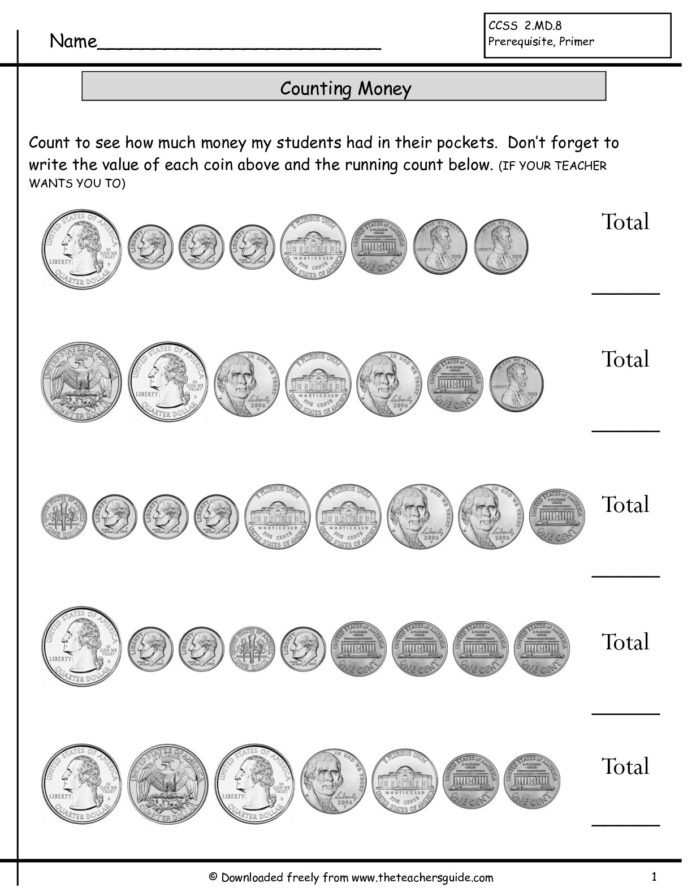 Counting Coins Worksheets First Grade Counting Coins First Grade Lessons Tes Teach Worksheets 1st