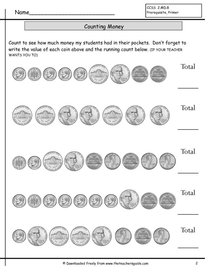 Counting Coins Worksheets First Grade Counting Money T2 Lessons Tes Teach Sets Coins Worksheets