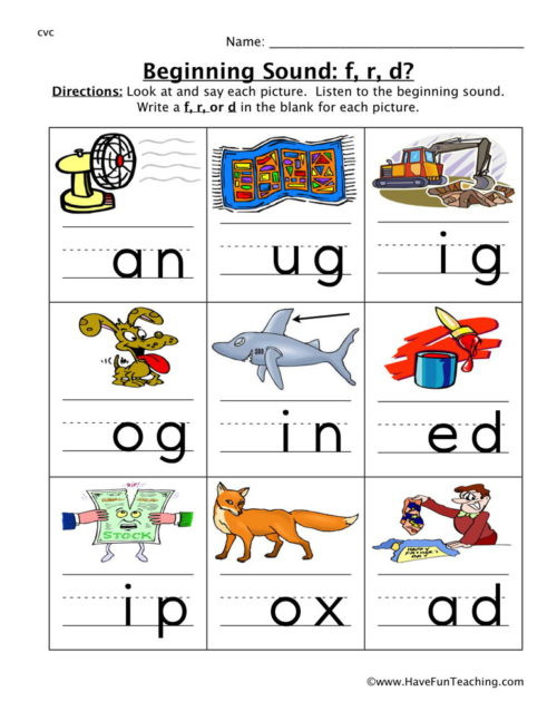 Cvc Worksheet Kindergarten Cvc Worksheets • Have Fun Teaching