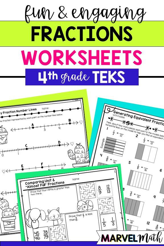 Decomposing Fractions Worksheets 4th Grade Distance Learning Fractions No Prep Printables 4th Grade