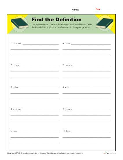 Dictionary Skill Worksheets 3rd Grade Dictionary Skills Worksheets