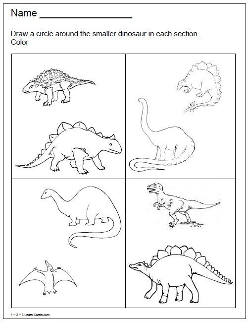 Dinosaur Worksheets Kindergarten Dinosaur Worksheets