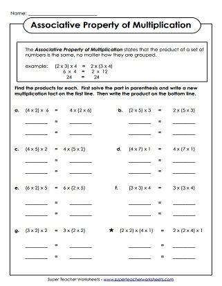 Distributive Property Worksheets 9th Grade Distributive Property Of Multiplication Worksheets Pdf In