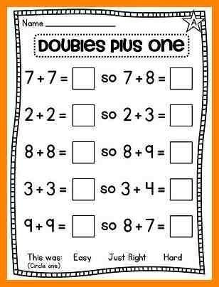 Doubles Math Fact Worksheets 20 Doubles Math Facts Worksheet In 2020