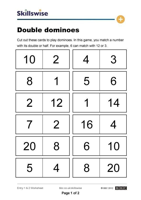 Doubles Math Worksheet 20 Doubles Math Facts Worksheets In 2020