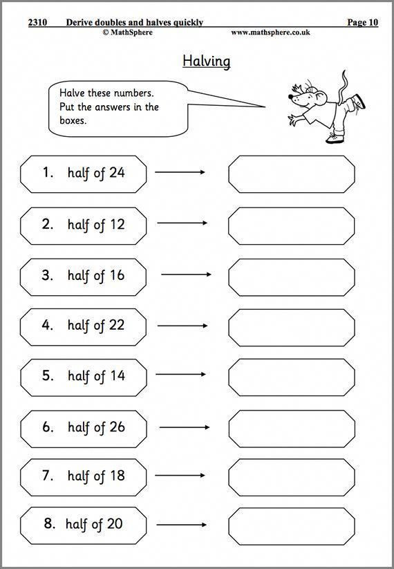 Doubles Math Worksheet Doubling and Halving Maths Worksheet Mathhomeworkhelp