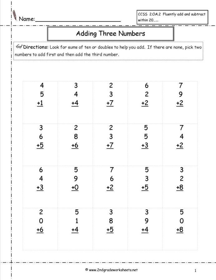 Doubles Math Worksheets 2nd Grade Math Worksheets Doubles Learning Second Printable