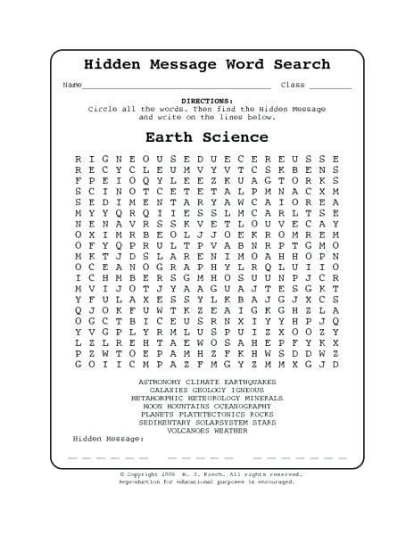 Eighth Grade Science Worksheets 8th Grade Word Search – Timothyfregosoub