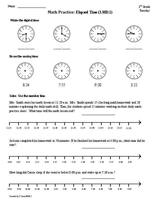 Elapsed Time 3rd Grade Worksheets 4th Grade Elapsed Time Worksheets