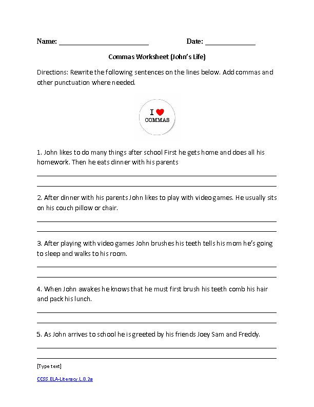 English Worksheets for 8th Grade 8th Grade English Worksheets Printable In 2020
