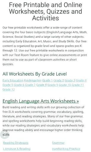 English Worksheets for 8th Grade 8th Grade Reading Worksheets