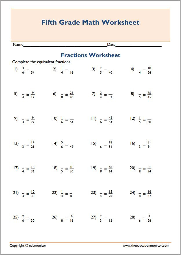 Equivalent Fractions Worksheets 5th Grade Equivalent Fractions Multiplication Worksheets