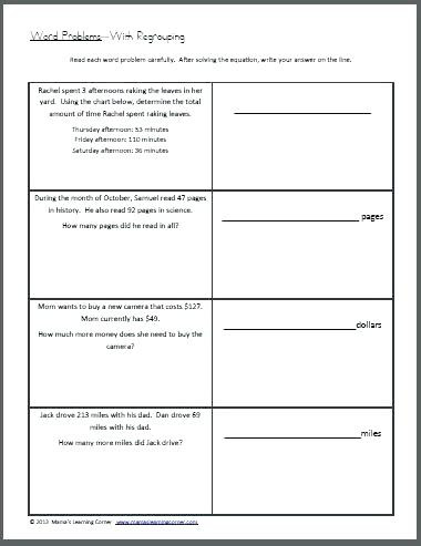 Estimating Sums Worksheets 3rd Grade Third Grade Word Problem Worksheets area and Perimeter Word