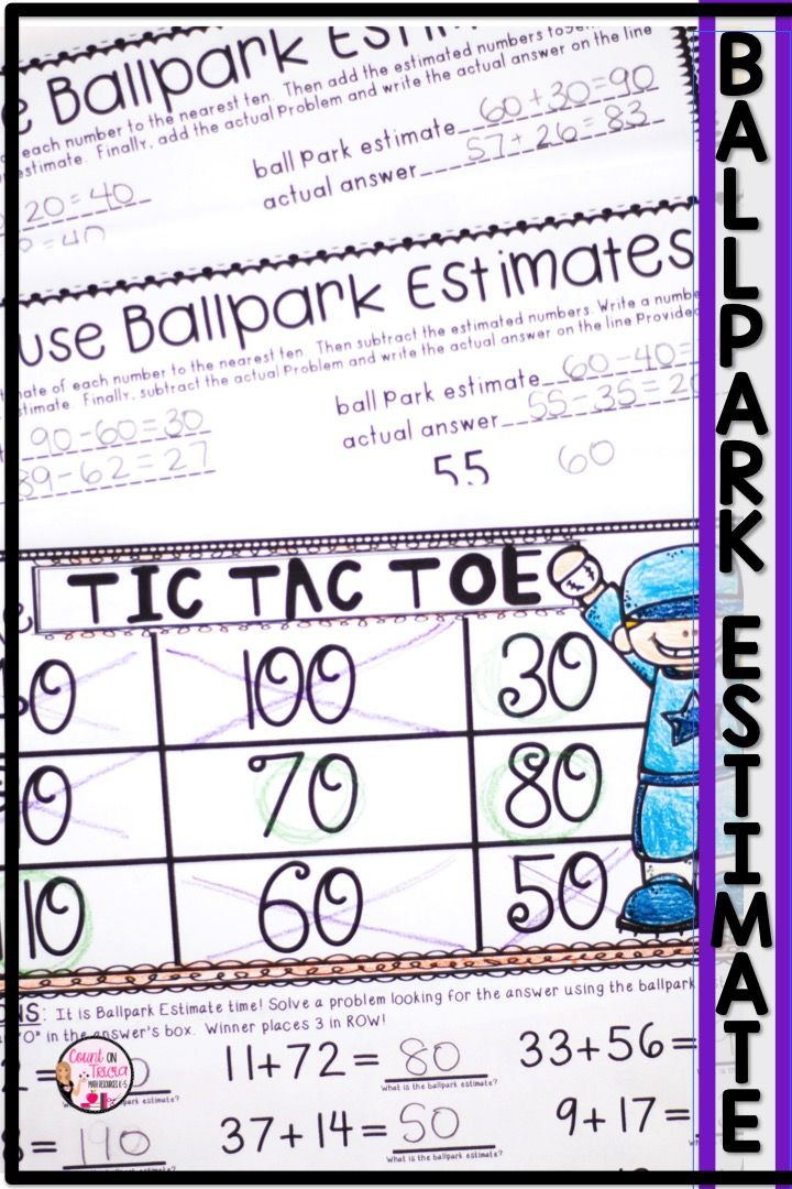 Estimating Worksheets 3rd Grade Ballpark Estimates
