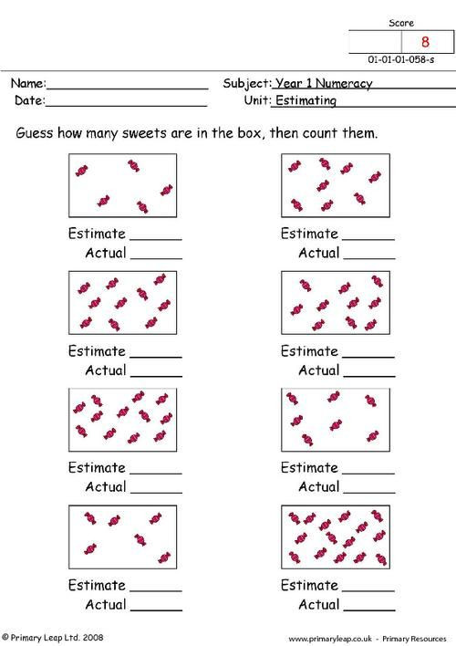 Estimation Worksheet 3rd Grade Estimation Worksheets Google Search