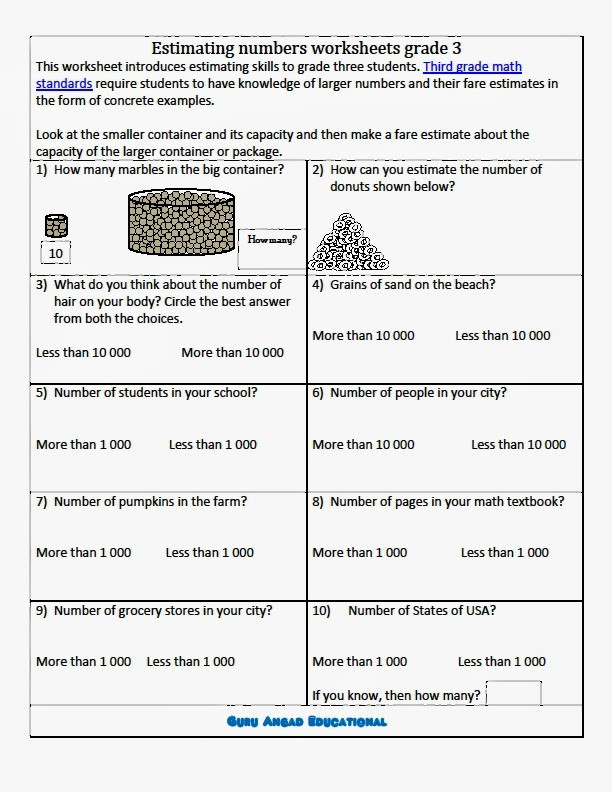 Estimation Worksheets for 3rd Grade Rounding Nearest 10 100 Lessons Tes Teach