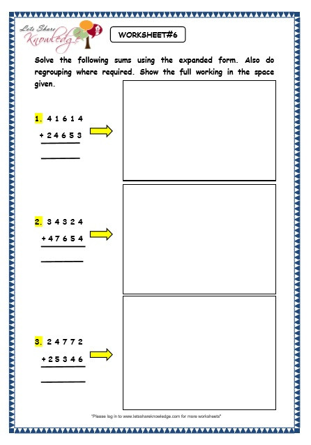 Expanded form Worksheets 1st Grade May 2016 – Lets Knowledge