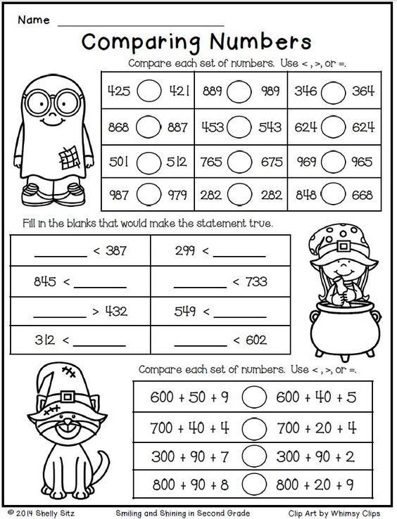 Expanded form Worksheets Second Grade Halloween Math for Second Grade Paring Numbers Free