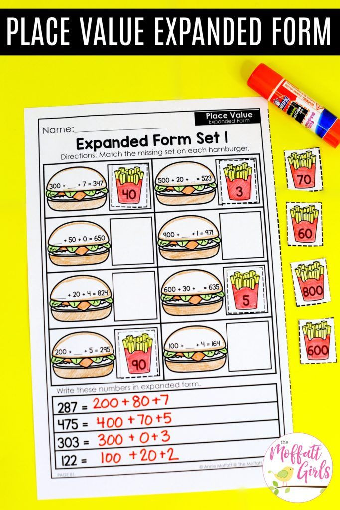 Expanded form Worksheets Second Grade Place Value Numbers Up to 1 000 In Second Grade