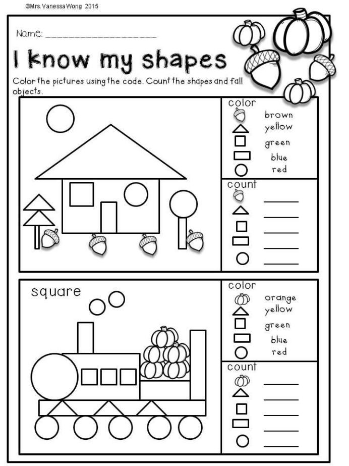 Fall Worksheets for Kindergarten Fall Activities for Kindergarten Math and Literacy No Prep