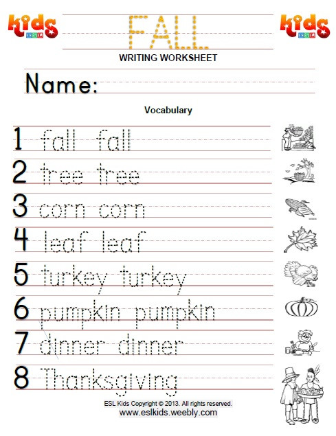 Fall Worksheets for Kindergarten Fall Activities Games and Worksheets for Kids