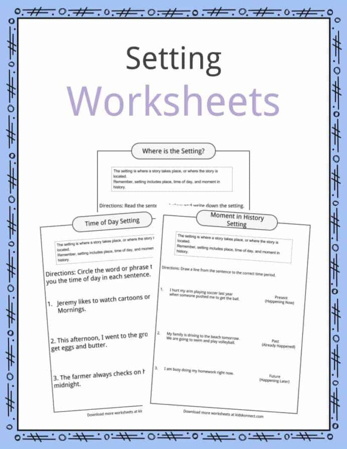 First Grade History Worksheets Setting Examples Definition Worksheets for Kids