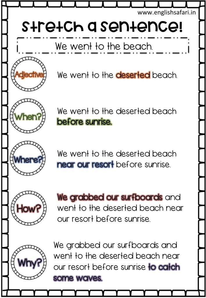 First Grade Sentence Worksheets Sentence Structure Examples Free