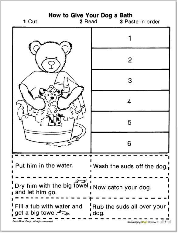 First Grade Sequencing Worksheets Pin On Neicy