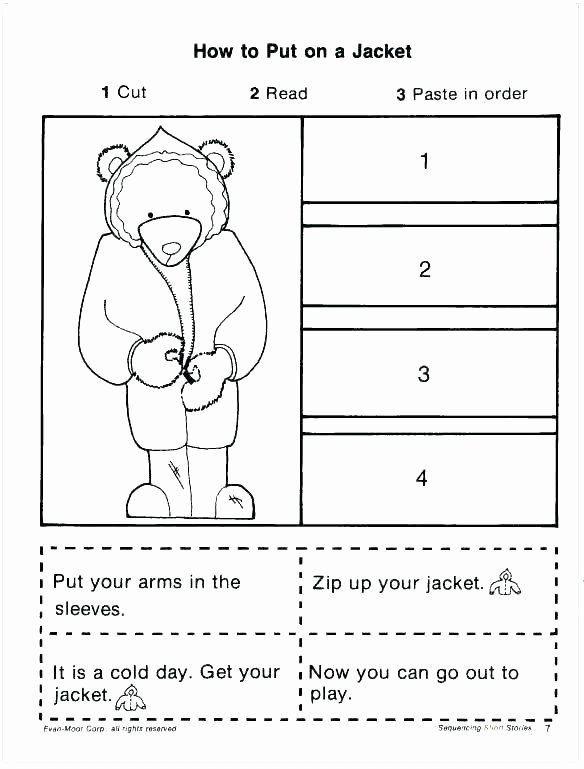 First Grade Sequencing Worksheets Story Sequence Worksheets for Kindergarten First Grade