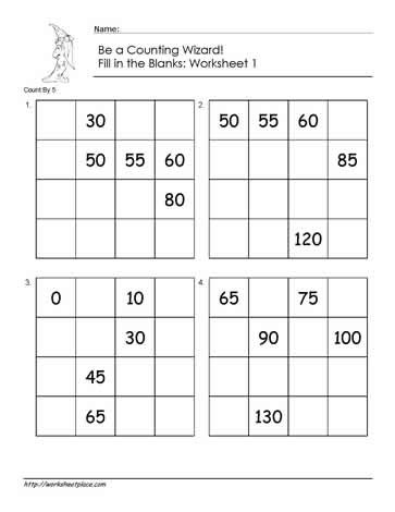 First Grade Skip Counting Worksheets Count by 5 Worksheet 1 Worksheets